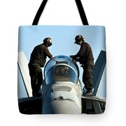 U.s. Navy Sailors Wipe Down The Canopy Tote Bag