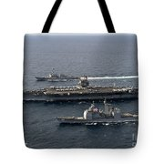 U.s. Navy Ships Transit The Atlantic Tote Bag