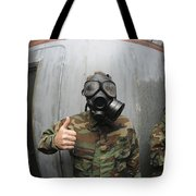 U.s. Navy Soldier Shows He Is Stable Tote Bag