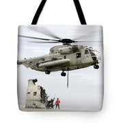 U.s. Sailors Assist A Ch-53d Sea Tote Bag