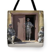 U.s. Soldiers On Guard At Fort Irwin Tote Bag