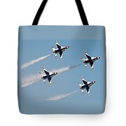 Usaf F-16 Thunderbirds Tote Bag