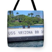 Uss Arizona Bb 39 Marker Tote Bag