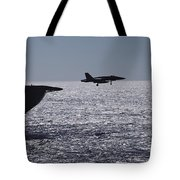 U.s.s. Coral Sea Aircraft Carrier Tote Bag