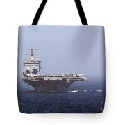 Uss Enterprise In The Arabian Sea Tote Bag