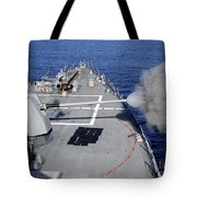 Uss Halsey Fires Its Mk-45 Tote Bag