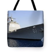 Uss Monterey Arrives Tote Bag