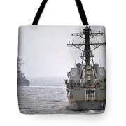 Uss Porter And Uss Nitze Participate Tote Bag