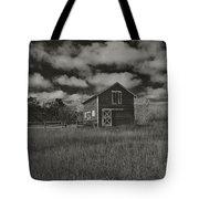 Utah Barn In Black And White Tote Bag