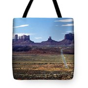 Utah, Usa Highway And Rock Formations Tote Bag