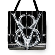V-8 Car Emblem Tote Bag