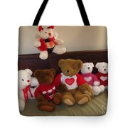 Valentine Bears  Tote Bag