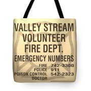 Vallet Stream Fire Department In Sepia Tote Bag