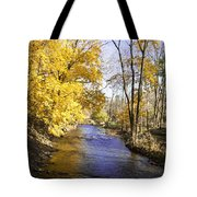 Valley Forge Creek In Autumn Tote Bag