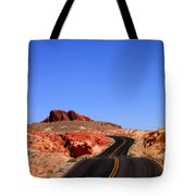 Valley Of Fire Road And Sky Nevada Tote Bag