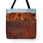 Valley Of Fire Rockscape Tote Bag