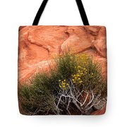 Valley Of Fire Yellow Vegetation Nevada Tote Bag