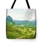 Valley Panorama Tote Bag