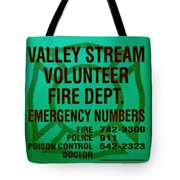 Valley Stream Fire Department In Irish Green Tote Bag