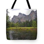 Valley View Of Bridalveil Falls Tote Bag