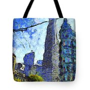 Van Gogh Sips Absinthe And Takes In The Views From North Beach In San Francisco . 7d7431 Tote Bag