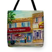 Van Horne Bagel With Yangzte Restaurant Tote Bag