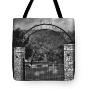 Vance Cemetery Black And White Tote Bag