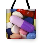 Variety Of Pills Tote Bag