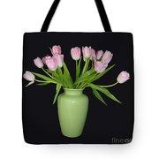 Vase Of Pink Tulips Tote Bag