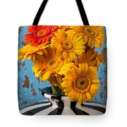 Vase With Gerbera Daisies  Tote Bag