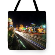 Vegas Light Trails Tote Bag