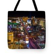Vegas Strip At Night Tote Bag