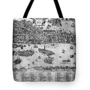 Venice: Map, C1566 Tote Bag