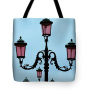 Venitian Lamp Posts Venice Italy Tote Bag