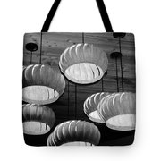 Vented Lights In Black And White Tote Bag