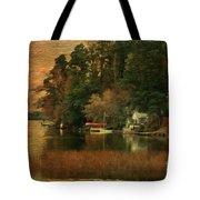 Vermont Autumn Shoreline Tote Bag