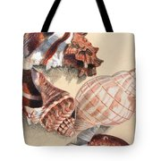 Vertical Conch Shells Tote Bag