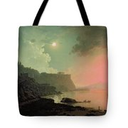 Vesuvius From Posillipo Tote Bag by Joseph Wright of Derby