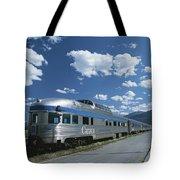 Via Rail Canada Train Waiting At Jasper Tote Bag