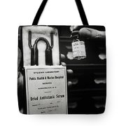 Vials Of Tetanus Antitoxin Tote Bag by Science Source