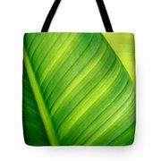 Vibrant Green Leaf Tote Bag