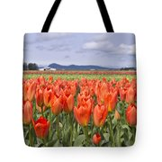 Vibrant Orange Spring Tote Bag