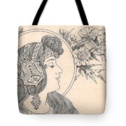 Victorian Lady - 3 Tote Bag