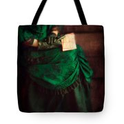 Victorian Lady With Letters Tote Bag