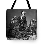 Victorian Woman With Furs C. 1853 Tote Bag