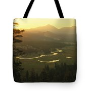 View At Dawn Of The Tuolumne River Tote Bag