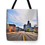 View Down Broadway Into Downtown Buffalo Ny Tote Bag