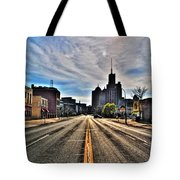View Down Broadway Into Downtown Buffalo Ny Vert Tote Bag