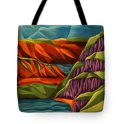 View From A Mountainside Tote Bag