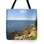 View From Bass Harbor Light Tote Bag